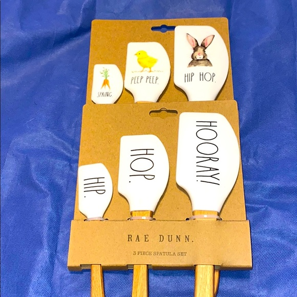 Rae Dunn Easter spatula set